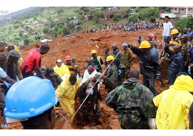 塞拉利昂遭遇洪灾300多人死亡,教宗为遇难者祈祷