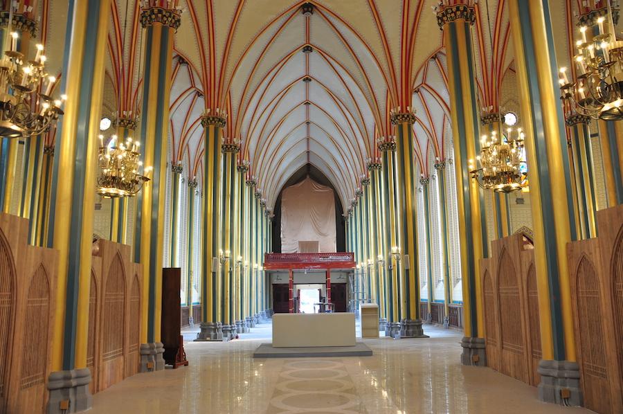 修缮中的西什库教堂