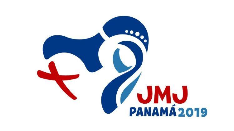 巴拿马世青节徽标以玛利亚和世青节十字架为设计的核心